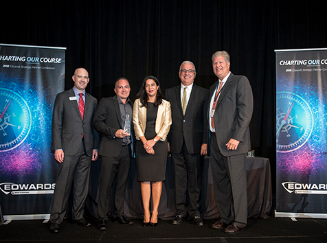 Convergint Colleagues Holding Edwards Award