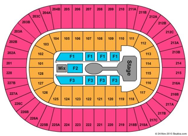 Joe Seating Cirque Chart De Arena Soleil Louis