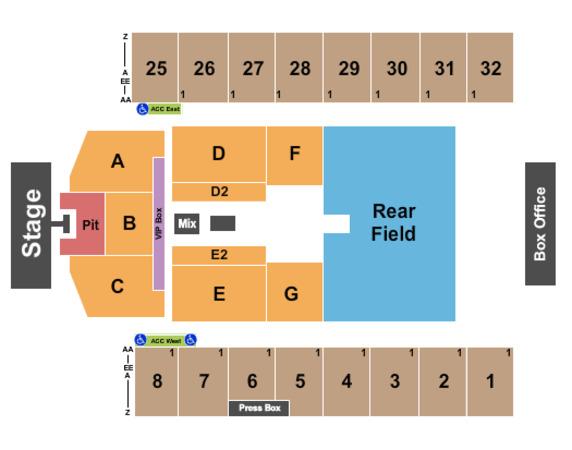 Hersheypark Stadium Seating Chart Row