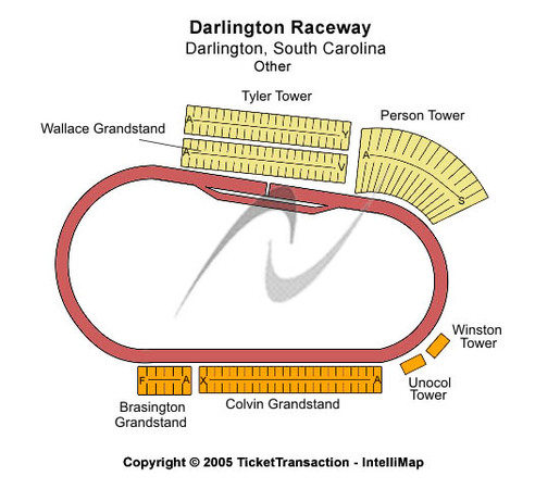 Seating Raceway Darlington Chart