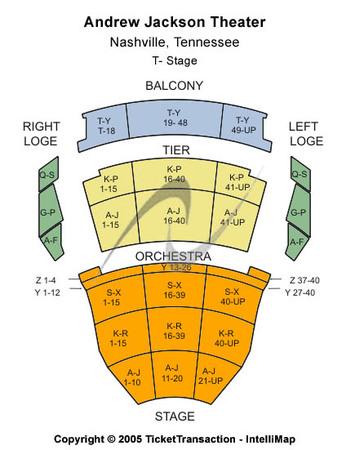 Andrew Jackson Hall TPAC Seating-Chart