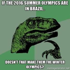 Hahaha no i zaczynamy! Paradoks Olimpiady w Brazylii. / Hahaha and here we go! The paradox of the Olympics in Brazil.