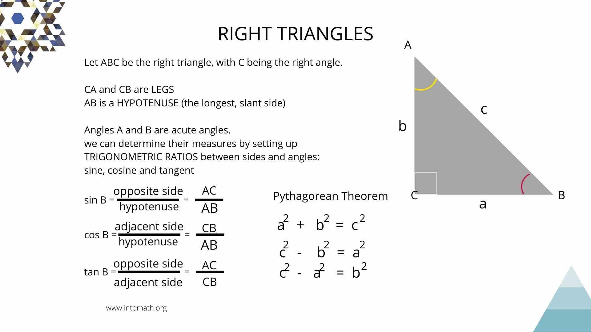 Lesson 5 Right Triangle Trigonometry Trig Ratios