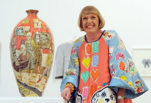 EMBARGOED TO 2230 FRIDAY JUNE 14 File photo dated 02/10/12 of Grayson Perry who received a CBE (Commander of the British Empire) in the Queen's Birthday Honours List. PRESS ASSOCIATION Photo. Issue date: Friday June 14, 2013. See PA story HONOURS stories. Photo credit should read: Anthony Devlin/PA Wire