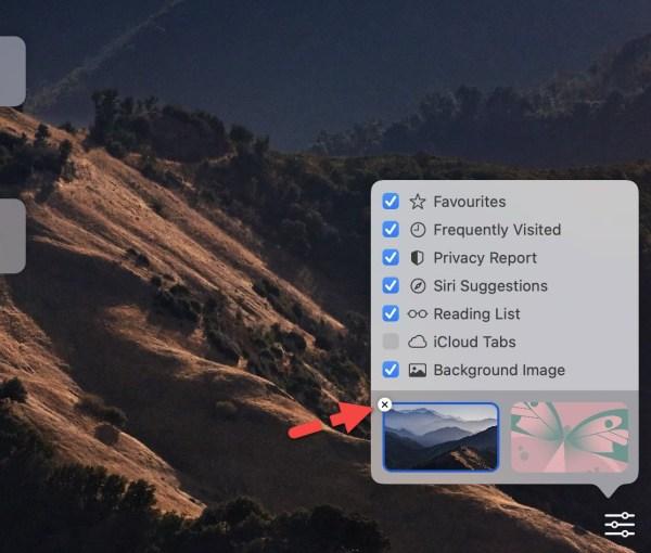Remove the Safari Background Image