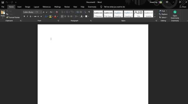 How to Enable the Dark Mode in Office 2019 (Office dark theme)
