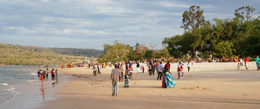 Zum Feiern an den Strand
