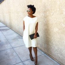 White Linen Minimalist Dress