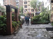 Margaret and Edita arriving to the Courtyard Hotel 28 May 2013