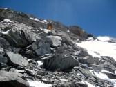 17 - Paliekant antra stovykla - kopimas uolomis