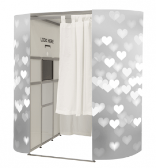 Silver Hearts Photo Booth