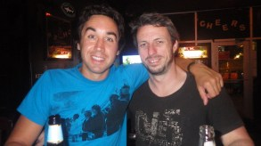 Me and Andy drinking in Austin TX.