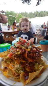 Mav and a HUGE plate of nachos