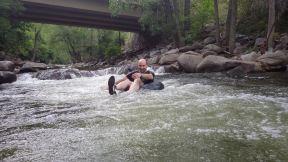 Richard river tubing in Boulder CO