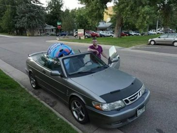 Convertibles are prefect for transporting inflatable tubes.