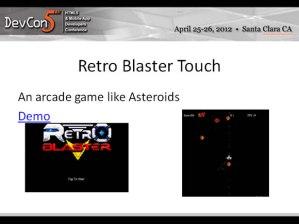 Retro Blaster Touch