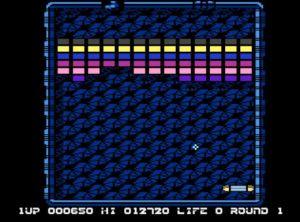 Arkanoid Atari 8-bit Level 1