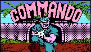 Commando Tittle Screen Atari XEGS