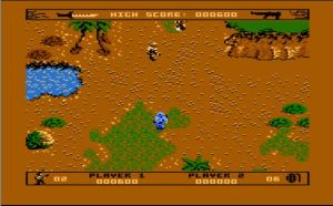 Commando Game-PlayScreen Atari XEGS