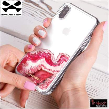 Ghostek Scarlet Case for iPhone XS / X | Clear Glitter Sparkle (Agate)