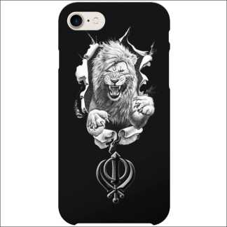 iPhone 8 Case | Sikh Khanda Lion D1