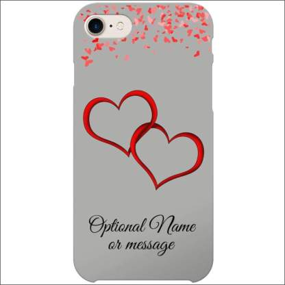 iPhone 8 Case | Valentine Hearts D1 (Optional Name/Message)