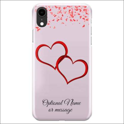 iPhone XR Case | Valentine Hearts D1 (Optional Name/Message)