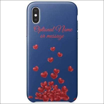 iPhone XS Case | Valentine Hearts D2 (Optional Name/Message)