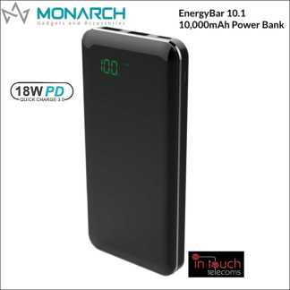 Monarch EnergyBar 10.1 Power Bank 10000mAh Capacity | 18W/3A Fast Charge