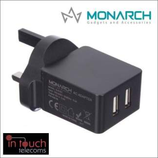 Monarch Gadgets Fast 5V 3.4A Dual USB Home Charger | iPhone and Samsung
