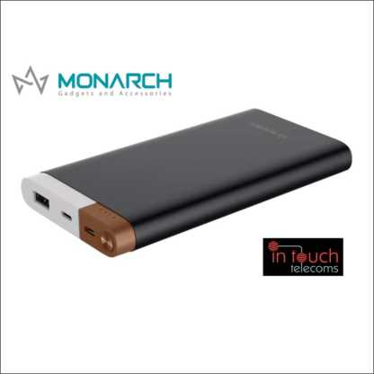 Monarch Gadgets Metal Power Bank with Dual Output 10000mAh Capacity