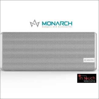 Monarch Gadgets Wireless Portable Speaker - White | Bluetooth Speaker