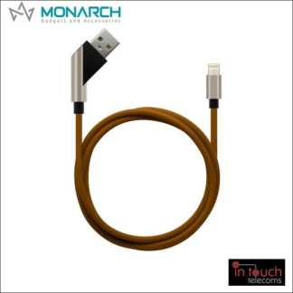 Monarch Gadgets X-Series | Lightning USB Cable - Brown