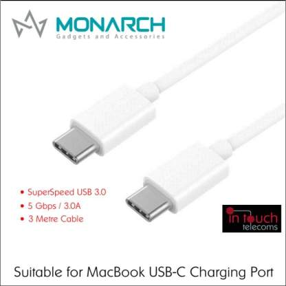 Monarch USB 3.0 Type-C to Type-C 3m Cable | Suitable for Charging MacBook
