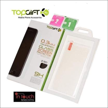 TopGift Premium Tempered Glass for iPhone X | Screen Protection