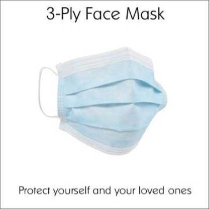 3-Ply Disposable Face Mask (Pack of 50) | Covid-19