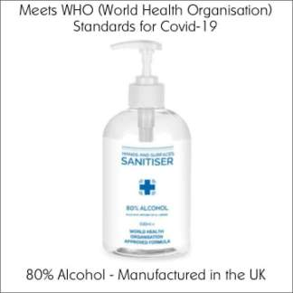 500ml 80% Alcohol Hand Sanitiser | Meets the WHO Standards for Covid-19