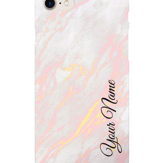 Personalised Rose Marble Case | iPhone 8/7, 8/7+, XR, XS/X, S9 Case