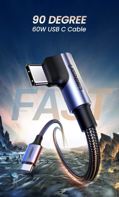 UGREEN PD 60W Fast Quick 4.0 Charger for Macbook Pro Air Samsung USB-C Cable