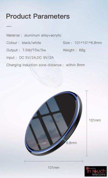 Qi 10W Wireless Slimline Mirror Charging Pad | 10W Fast Charger