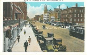 Photo Courtesy of Manchester Historic Association |Elm St. Looking South