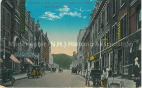Photo Courtesy of Manchester Historic Association | Hanover St Looking Towards Post Office