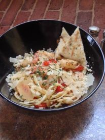 Waterworks Cafe | Shrimp Fra Diablo-sautéed shrimp, garlic, tomatoes, red pepper flakes with linguine & parmesan in white wine sauce