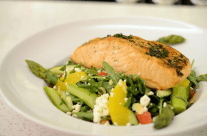 Mint Bistro - herb grilled salmon salad