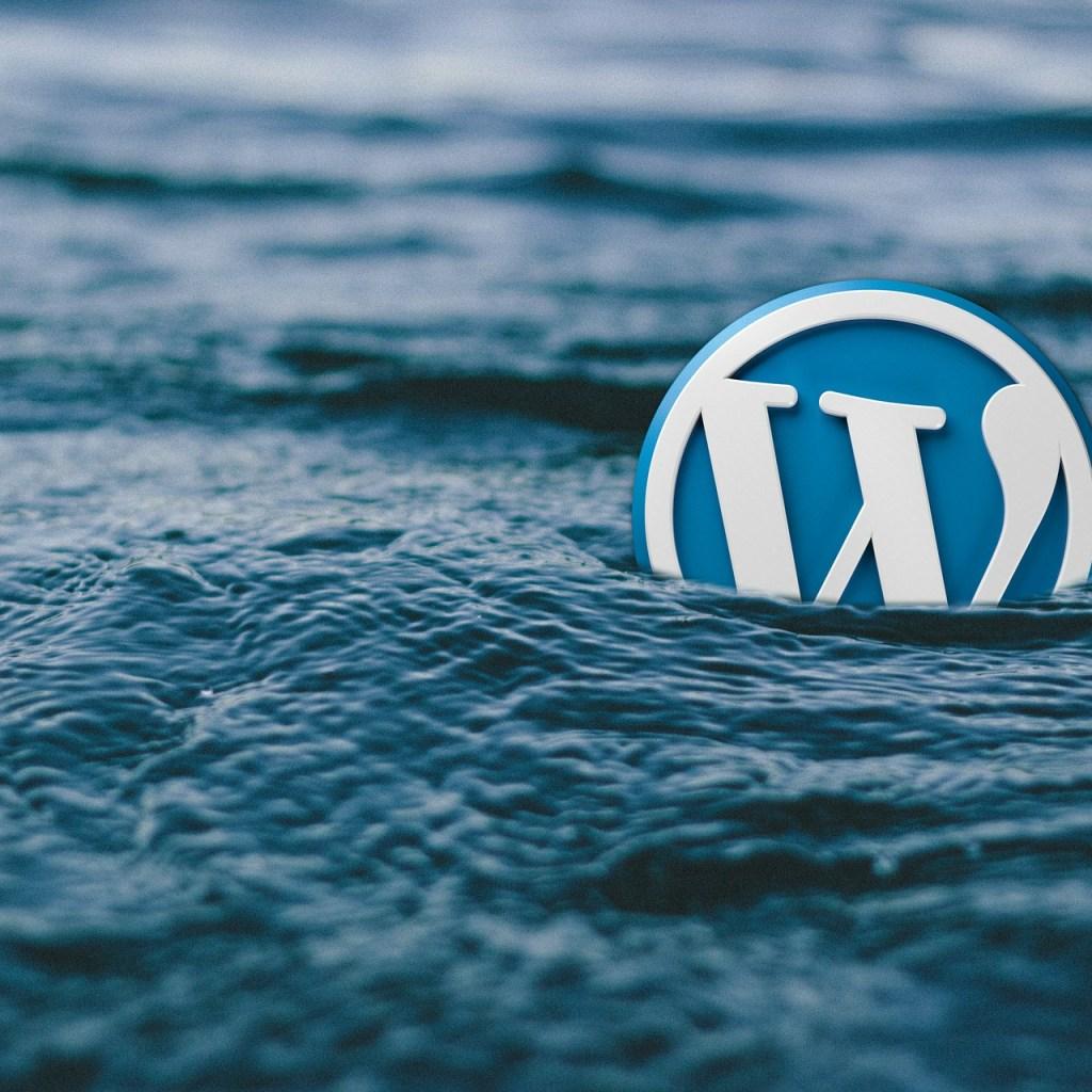 wordpress in water