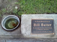 Memorial for a resident who aways put water out for people's dogs.
