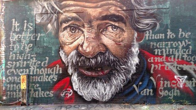 Van Gogh mural in Art Alley