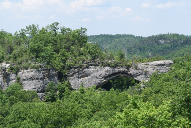 Closer view of the Natural Arch
