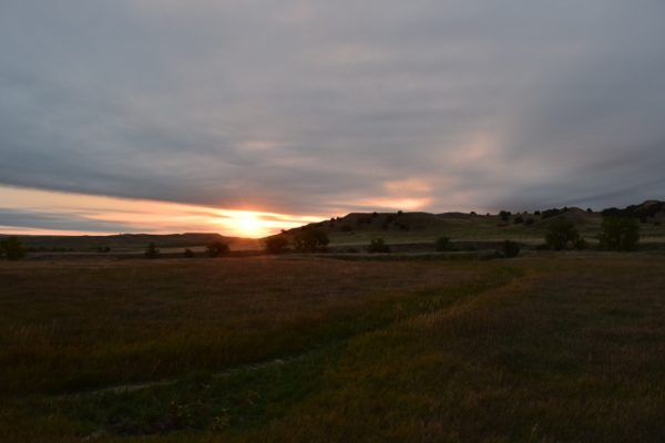 A beautiful sunrise at Sage Creek campground.