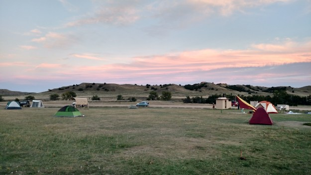 Sage Creek Campground in Badlands National Park.